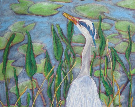 Polly Jackson - Blue Heron