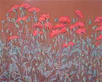 Polly Jackson - Poppies on Gold Street